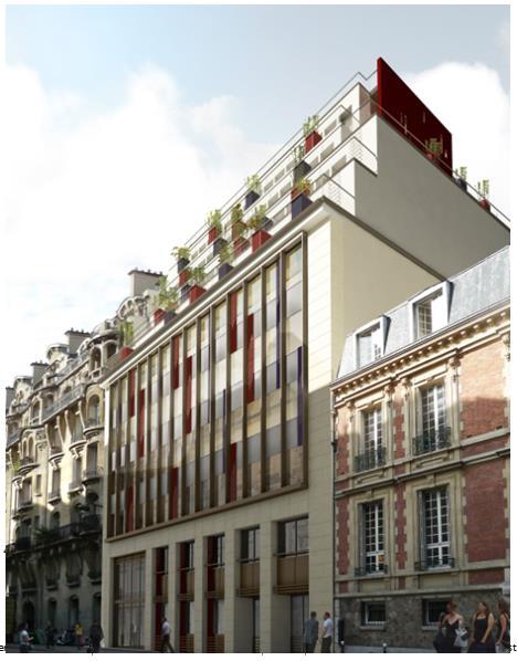 Bureaux tocqueville lasa for Immeuble bureaux hqe